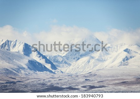 Winter in the mountains. Central Asia - stock photo