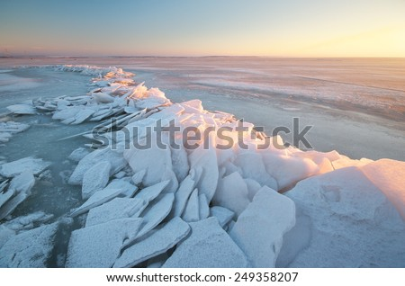 Winter landscape. Composition of nature. - stock photo