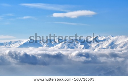 Winter landscape mountain from Macedonia - stock photo