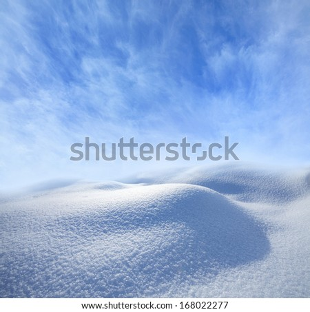 winter landscape with empty space for text  - stock photo