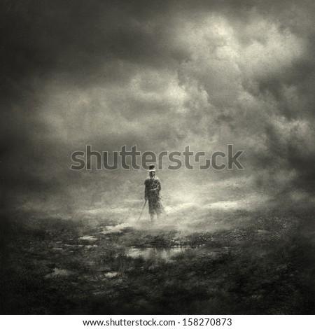 Winter man - stock photo