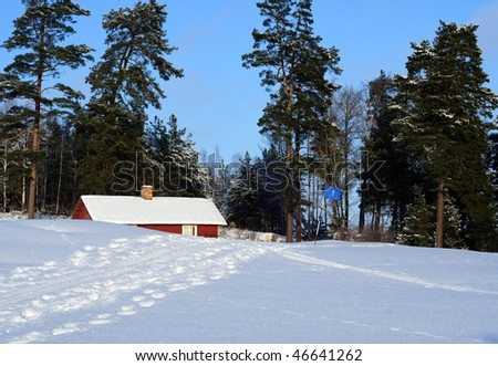 Winter on the golf course - stock photo