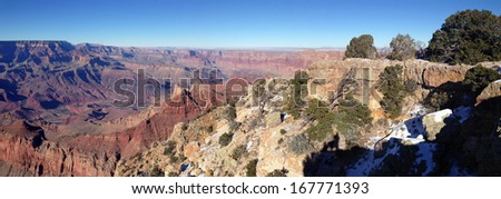 Winter panorama in Grand Canyon National Park, Arizona - stock photo