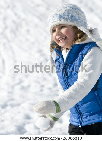 Winter playing - stock photo