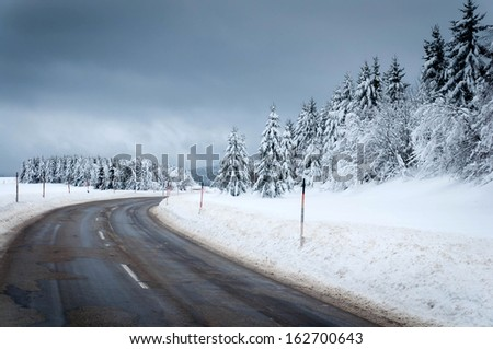 Winter Road - stock photo