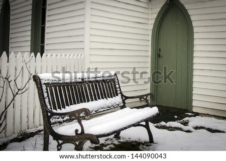 winter snow - stock photo