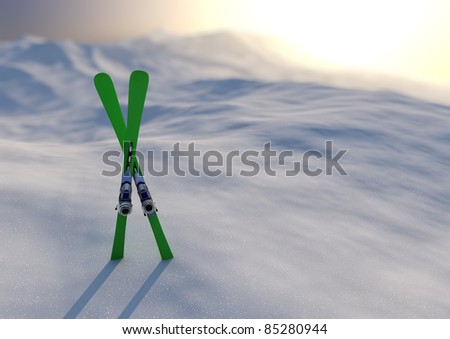 Winter sport - stock photo