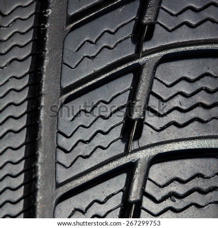 winter tire texture for background - stock photo