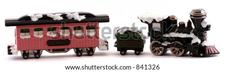 Winter Train - stock photo