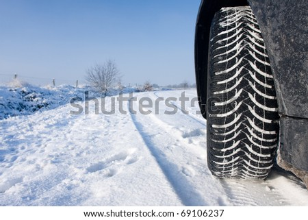 Winter tyre - stock photo