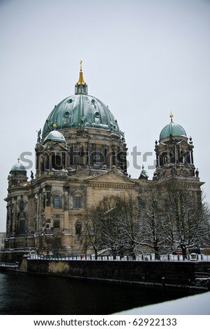 Winter view on Berliner Dome, Germany - stock photo