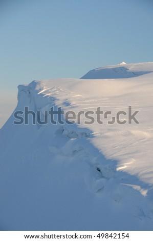Winter walking, Helvellyn, English Lake District - stock photo