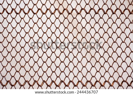 wire fence background - stock photo