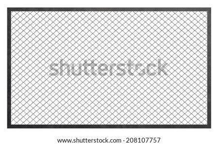 Wire fence barrier - stock photo