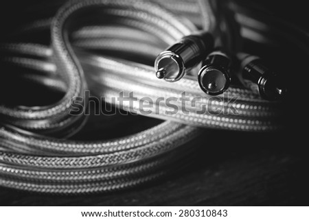 wire for electronics tulip - stock photo