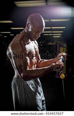 Wire Machine Weight Training - stock photo