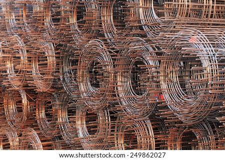 wire mesh steel - stock photo