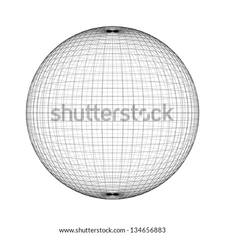 Wireframe abstract background - stock photo