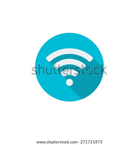 Wireless and wifi icon or sign for remote internet access. Podcast symbol on white background. - stock photo