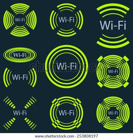 Wireless communication - stock photo