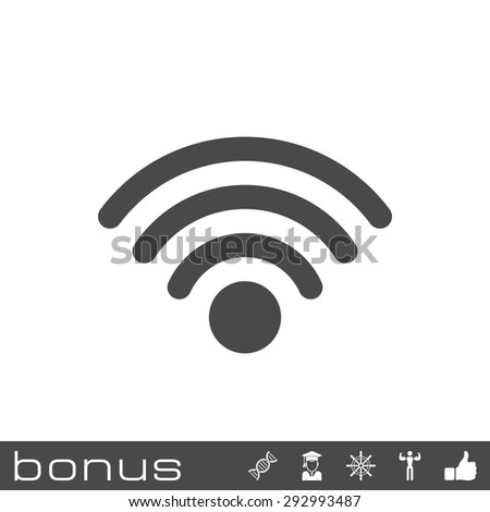 wireless icon - stock photo