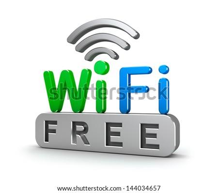Wireless Network Symbol - stock photo