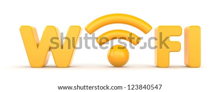 Wireless Network. Wifi - stock photo