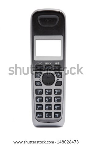 wireless phone on white background - stock photo