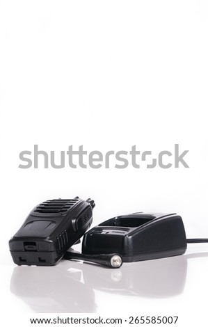 Wireless Radio Communication on white with reflection - stock photo