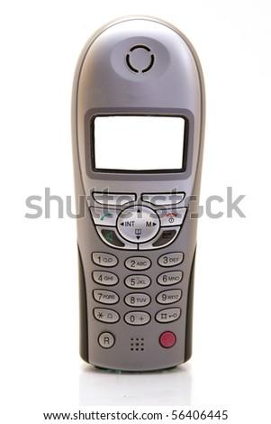 wireless telephone isolated on white - stock photo