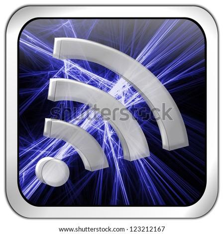 wireless WiFi Wlan button - stock photo