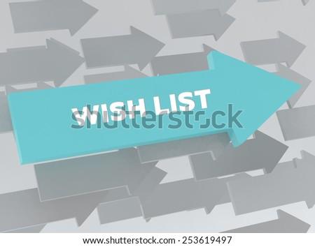 WISH LIST - stock photo