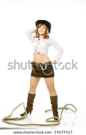 Wistful cowboy - stock photo