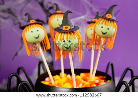 Witch cake pops - stock photo