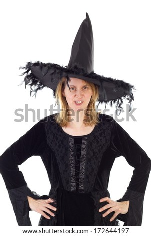 Witch of Dark Ages - stock photo