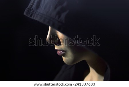Witch woman - stock photo