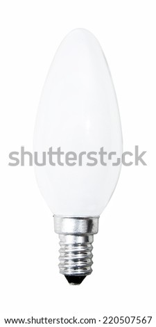 Wite bulb isolated on white. - stock photo
