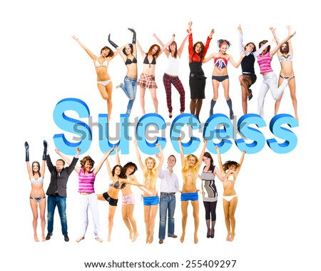 With a word Success And Any Words You Add  - stock photo
