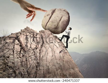 With all one's strength  - stock photo
