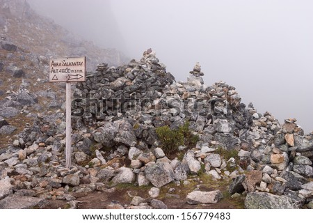 with altitude sign - stock photo