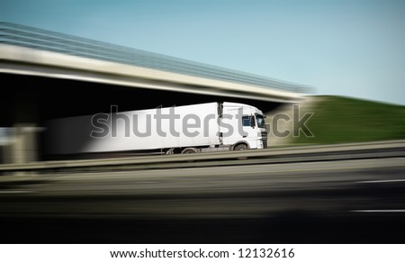 with the advent of a truck - stock photo
