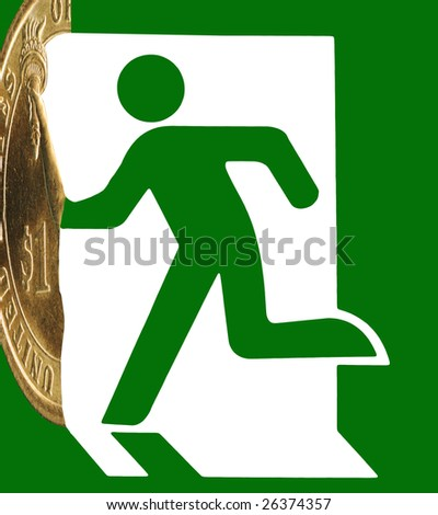 Withdrawal from the financial deadlock is found. - stock photo