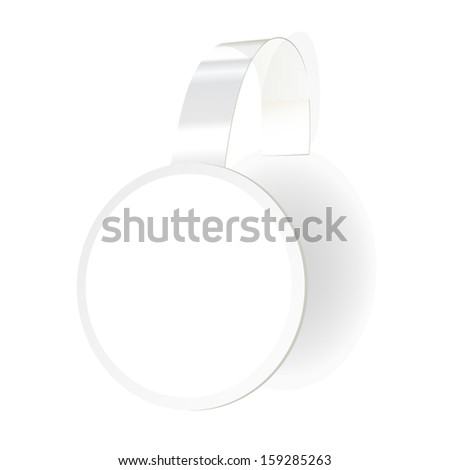 Wobbler with transparent strip isolated on a white background - stock photo