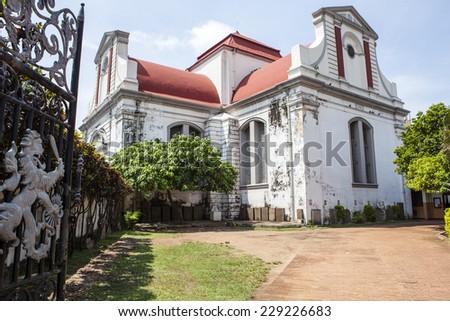 Wolvendaal Church - a Dutch Reformed Christian Colonial VOC Church in Colombo, Sri Lanka - Asia - stock photo