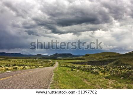 Wolverine Canyon, Blackfoot Mountains, Idaho - stock photo
