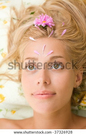Woman and cosmetologist in the beauty salon - stock photo
