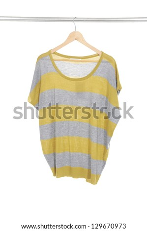 Woman clothes on a hanger isolated - stock photo