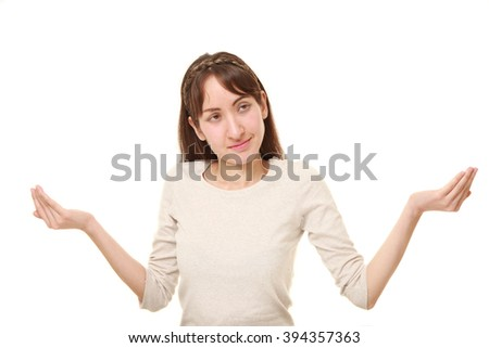 woman confused - stock photo