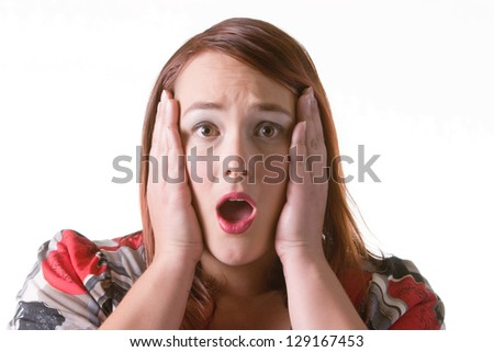 Woman covering her ears - stock photo