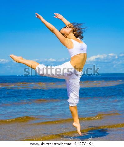 woman dancer - stock photo